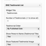 Testimonials List Widget