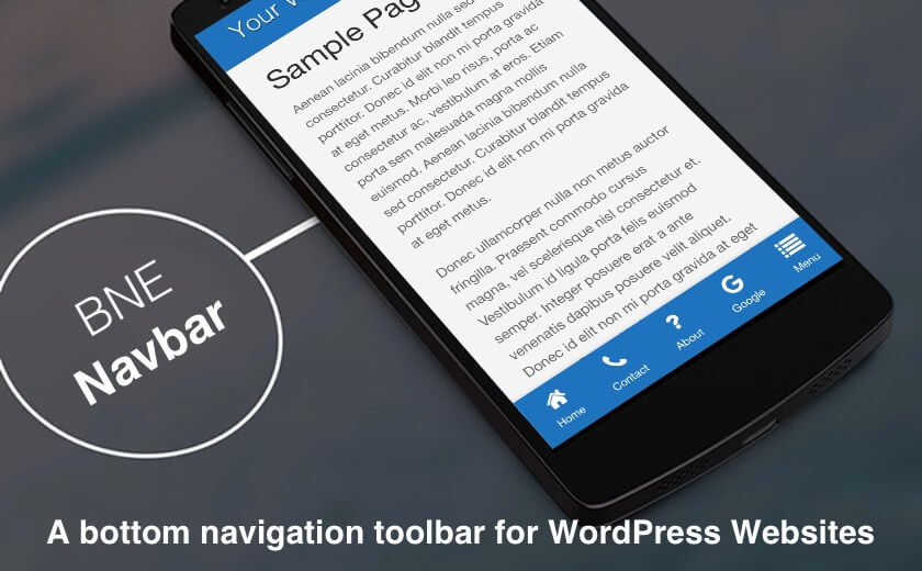 Website App Toolbar for WordPress