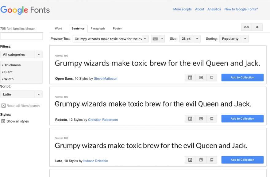 Google Font Support